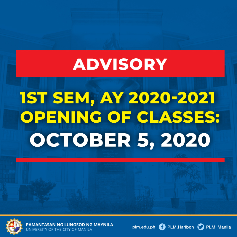 PLM adjusts opening of classes to October 5