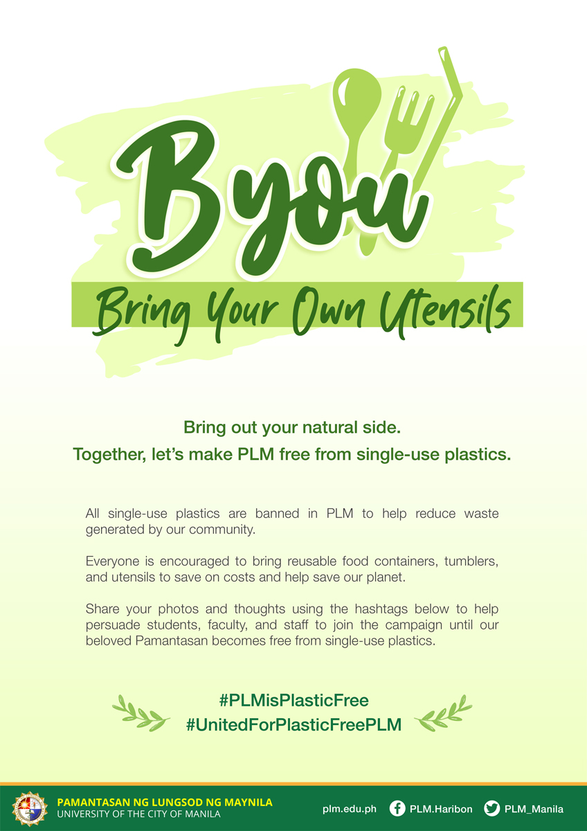 PLM's Plastic-free campaign: Bring Your Own Utensils